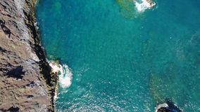 大西洋的鸟瞰图 股票录像