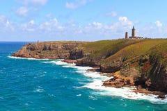 大西洋盖帽海岸frehel法国最近 免版税库存图片