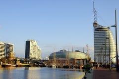 大西洋bremerhaven城市旅馆klimahaus风帆 免版税库存图片