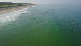 大西洋和普遍的海滩在鳕鱼角 股票录像