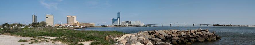 大西洋城全景  免版税库存图片