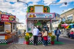 大西洋城木板走道 免版税库存图片