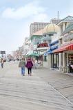 大西洋城木板走道 免版税库存照片