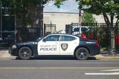大西洋城警车 免版税库存图片