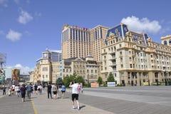 大西洋城, 8月4日:赌博娱乐场和旅馆从大西洋城在新泽西 库存照片