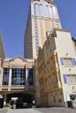 大西洋城, 8月4日:赌博娱乐场和旅馆从大西洋城在新泽西 库存图片