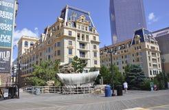 大西洋城, 8月4日:赌博娱乐场和旅馆从大西洋城在新泽西 免版税图库摄影