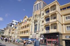 大西洋城, 8月4日:赌博娱乐场和旅馆从大西洋城在新泽西 免版税库存图片