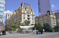 大西洋城, 8月4日:赌博娱乐场和旅馆从大西洋城在新泽西 图库摄影