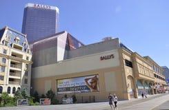 大西洋城, 8月4日:赌博娱乐场和旅馆从大西洋城手段在新泽西 免版税库存照片