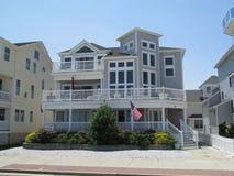 """大西洋城, NJ美国 在海滩旁边的议院 06/10/2015 Ð """" 免版税库存图片"""
