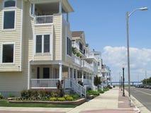 """大西洋城, NJ美国 海滨别墅在旁边 06/10/2015 Ð """" 图库摄影"""