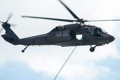 大西洋城, NJ - 8月17日:在每年大西洋城飞行表演的美国陆军直升机2016年8月17日 免版税库存照片