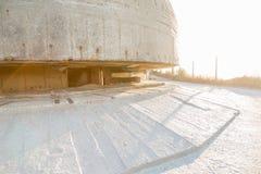 大西洋墙壁的德国侦察地堡在Pointe du H的 库存照片