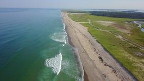 大西洋天线和在鳕鱼角的风景海滩 影视素材