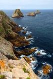 大西洋布里坦尼海岸 库存照片