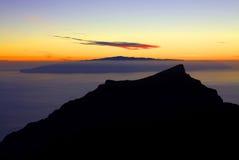 大西洋日落 特内里费岛 加那利群岛, 免版税库存图片