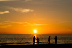 大西洋日落 免版税库存照片