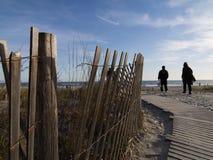 大西洋木板走道城市 免版税图库摄影