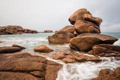 大西洋海岸在布里坦尼 库存照片