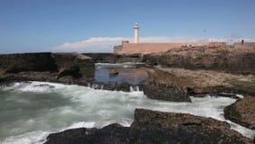 大西洋海岸在拉巴特,摩洛哥 免版税库存照片