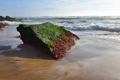 大西洋海岸, Azenhas毁损,辛特拉,里斯本,葡萄牙 库存照片