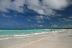 大西洋海滩海景 免版税库存图片
