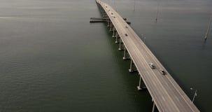 大西洋海滩桥梁交通 影视素材