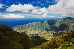 大西洋的看法从山的 库存图片