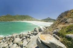 大西洋看法和Hout咆哮,南开普敦半岛,在开普敦外面,南非 库存照片
