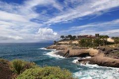 大西洋美丽的景色特内里费岛海岛的 库存图片
