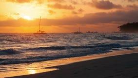 大西洋顶视图 多米尼加共和国, Punta Cana 库存图片