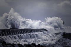 大西洋风雨如磐的通知 库存照片