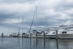 大西洋高地自治都市小游艇船坞 免版税库存图片