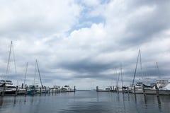 大西洋高地自治都市小游艇船坞 免版税库存照片