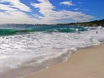 大西洋,阵营海湾海滩区域 库存照片