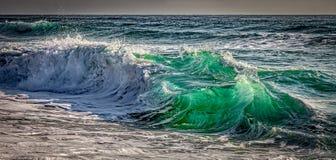 大西洋Shorebreak 库存图片