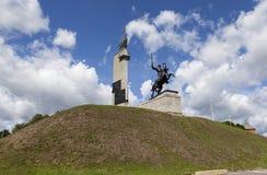 大诺夫哥罗德,俄罗斯- 2015年8月08日:胜利纪念碑照片  库存图片