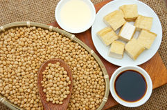 从大豆的产品 免版税库存图片