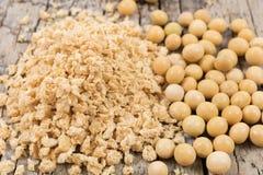 大豆粒子和豆 免版税图库摄影