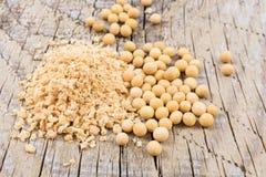 大豆粒子和豆 免版税库存照片