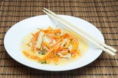 大豆芦笋和红萝卜 库存照片
