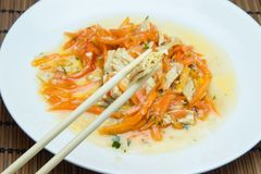 大豆芦笋和红萝卜 库存图片