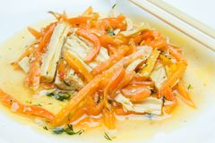 大豆芦笋和红萝卜 免版税图库摄影