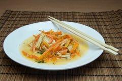 大豆芦笋和红萝卜 免版税库存照片