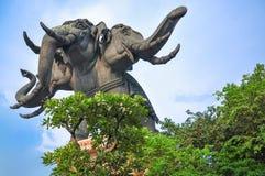大象三头 库存照片