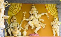 大象上帝Ganesh雕象 库存图片