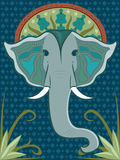 大象仿造了 库存照片