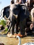 大象公园主题 免版税库存图片