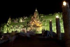 大象剧院,普吉岛泰国的普吉岛FantaSea宫殿 免版税库存图片